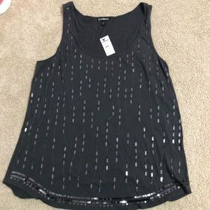 Express women's decorated tank